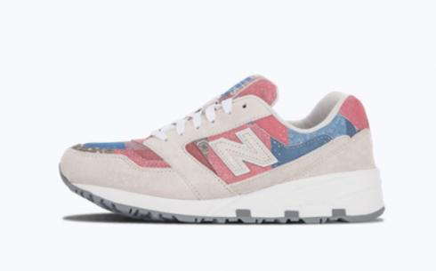 New Balance Md575 Grey Blue Pink Athletic Shoes