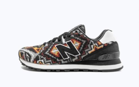 New Balance Ul574RS4 Black White Multi Athletic Shoes