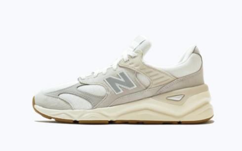 New Balance X90 Grey Gum Brown Athletic Shoes