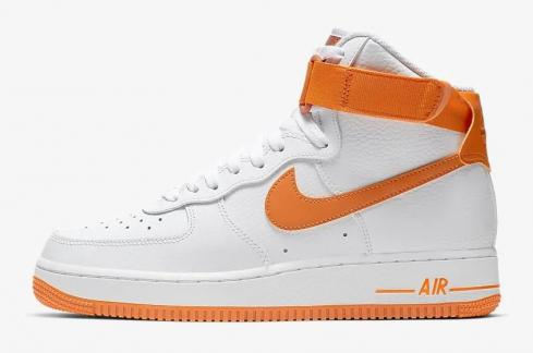 Nike Air Force 1 High 08 LE White Campfire Orange 334031-109