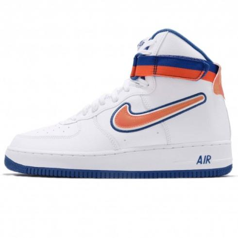 Nike Air Force 1 High Sport Knicks White Team Orange Game Royal AV3938-100