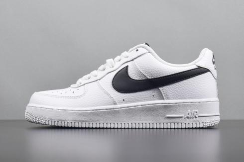 new style 2b601 42ef8 Nike Air Force 1 Low Crest Logo White Metallic Gold AA4083-102 - Febbuy