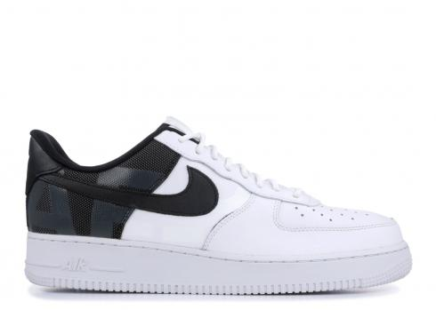 Nike Air Force 1 Low 07 LV8 Premium White Black Patch AF1 AV8363-100