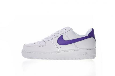 Nike Air Force 1 Low Premium White Court Purple Sneakers