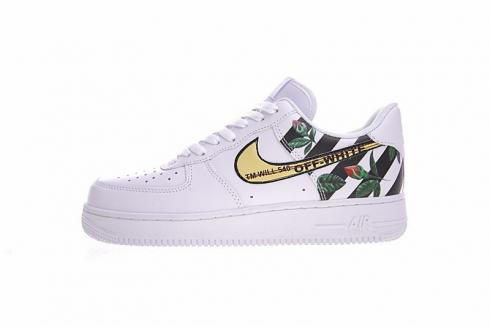 Off White X Nike Air Force 1 Low Rose Flower White Black 315122
