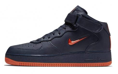 Nike Air Force 1 Mid NYC Finest Obsidian Brilliant Orange AO1639-400