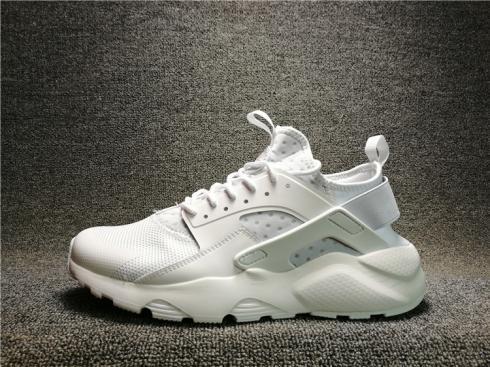 d2393d1733dd Nike Air Huarache Run Ultra BR Triple White Men Running Shoes ...