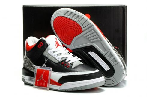 finest selection 329dd aa418 Nike Air Jordan III Retro 3 Men Shoes Black sport blue wolf grey 136064 007  Item No. 136064