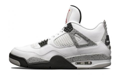 Air Jordan 4 OG 89 White Cement Fire Red Tech Grey Black 840606-192