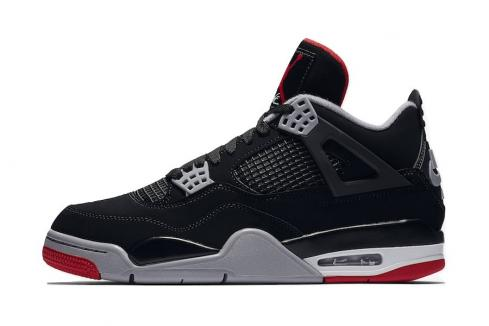 Air Jordan 4 OG Bred 2019 Black Cement Grey Summit White Fire 308497-060