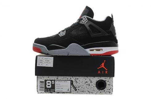 Nike Air Jordan IV 4 Retro Black Cement Fire Red BRED OG 308497 089
