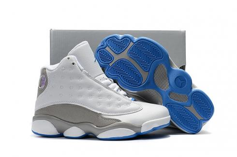 Prev Nike Air Jordan XIII 13 Retro Kid white grey blue basketball Shoes  310004-103 dca30d60c