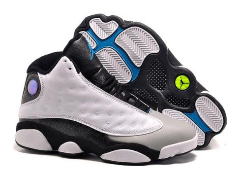f0463152ddc0 Nike Air Jordan 13 Melo PE Men Shoes White Blue Yellow 414571 Item No.  414571
