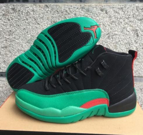 new styles 5841d 19659 Nike Air Jordan XII 12 Black Green Red Men Basketball Shoes - Febbuy