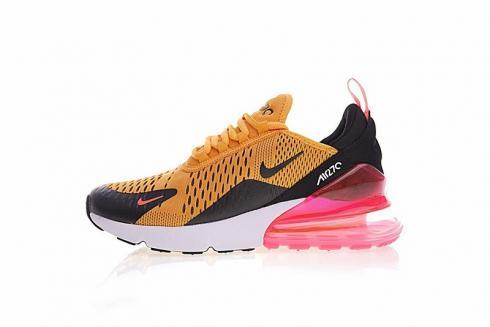 Nike Air Max 270 Black Blue Logo White Pink Multi Color AH8050-028 ... 4904da220