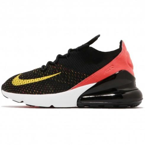 Nike WMNS Air Max 270 Flyknit Black Yellow Strike AH6803-003