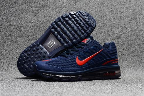 05f149e8bb Nike Air Max 360 KPU Running Shoes Men Black Red 310908-016 - Febbuy