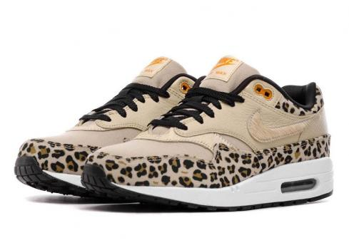 Nike WMNS Air Max 1 Premium Leopard Desert Ore Orange Peel Black BV1977-200