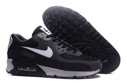 Nike Air Max 90 Essential Running Shoes Black White Silver