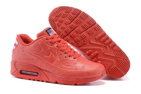 7450ba8f11 Prev Nike Air Max 90 VT USA Independance Day Unisex Running Shoes All Red Dot  472489-
