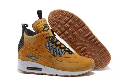 Nike Air Max 90 Sneakerboot Winter Suede Bronze Brown Orange 684714 ... 3fbf4b0a1