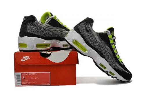 timeless design afba3 5de0d Prev Nike Air Max 95 Jacquard Grey Black White Flu Green Men DS Running  Shoes 644793-
