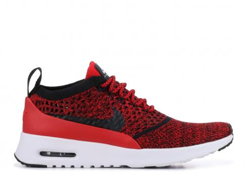 Nike Air Max Thea Ultra FK Black Red Womens Running Shoes 881175-601
