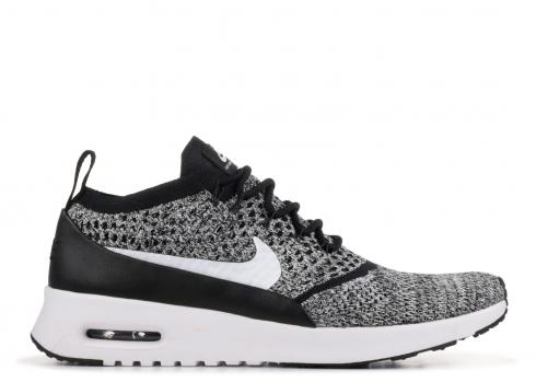 Nike Air Max Thea Ultra Flyknit Black White 881175-001