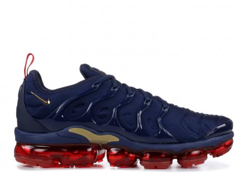 Nike Air VaporMax Plus Olympic Midnight Navy University Red 924453-405