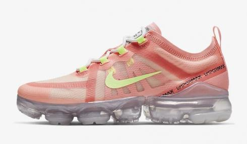 Nike Air VaporMax 2019 Pink Tint Light Cream Summit White Barely Volt AR6632-602