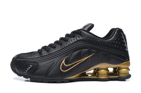 Nike Shox R4 301 Black Gold Men Retro Running Shoes BV1111-005
