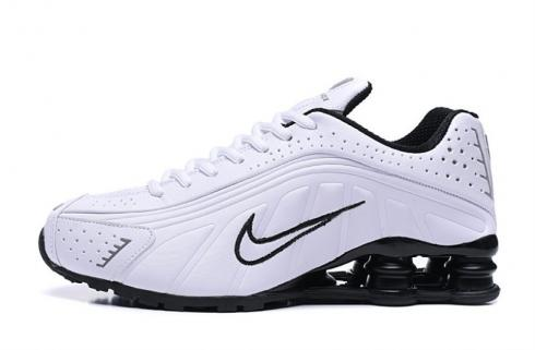 Nike Shox R4 301 White Black Men Retro Running Shoes BV1111-101