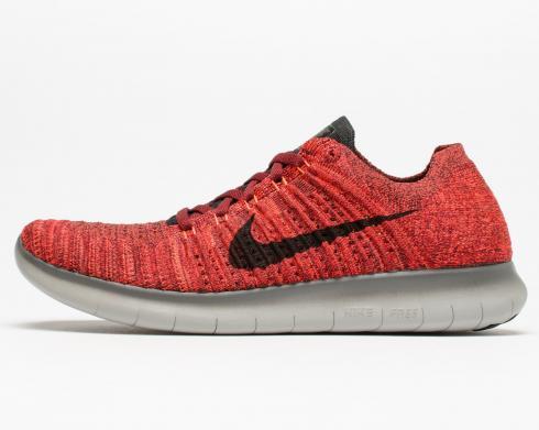 en cualquier momento Dictadura musical  Nike Free RN Flyknit Shoes Team Red Black Total Crimson Mens 831069-602 -  Febbuy