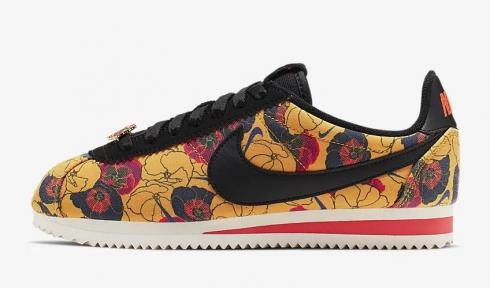 Nike Classic Cortez LX Floral University Gold Bright Crimson Sail Black AV1338-700