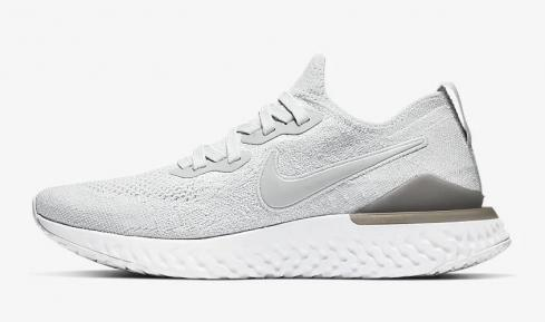 Nike Epic React Flyknit 2 Pure Platinum Wolf Grey White BQ8927-004