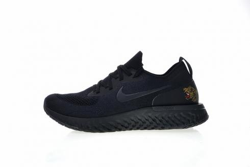 Nike Epic React Flyknit Heel With Tiger Black Gold AQ0067-992