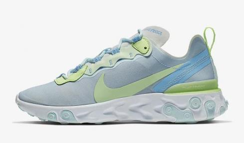 Nike React Element 55 White Barely Volt Teal Tint Frosted Spruce BQ2728-100