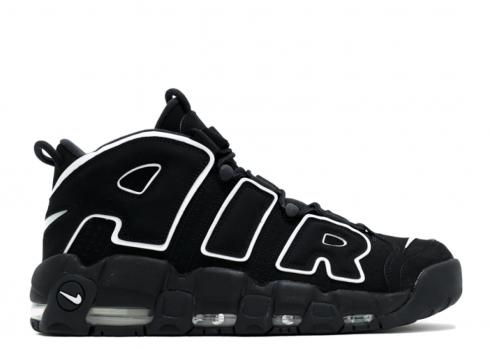 Nike Air More Uptempo Basketball Unisex Shoes Black White 414962-002