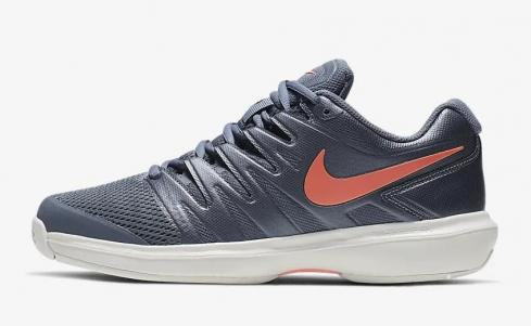 NikeCourt Air Zoom Prestige Metallic Blue Dusk Phantom Bright Mango AA8024-401