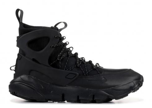 Nike Womens Air Footscape Mid Black Summit White AA0519-001