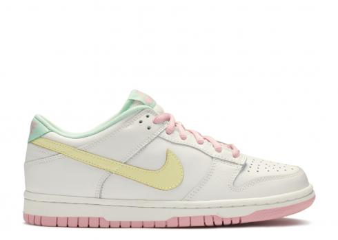 Nike Dunk Low White Halo Real Pink Medium Mint 309601-171
