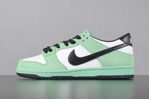 separation shoes db89a b0905 Dunk Low Pro Iw Sea Crystal Black White Summit Green Glow 819674-301 ...