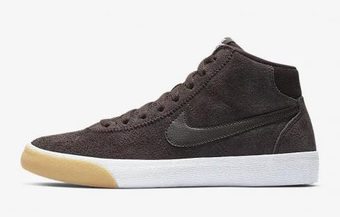 Nike SB Bruin High Velvet Brown Gum Yellow Light Cream 923112-201