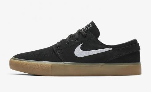 Nike SB Zoom Janoski RM Black Gum Light Brown White AQ7475-003