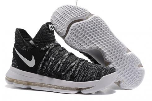 online store 67330 c0ab4 Prev Nike Zoom KD X 10 Black White Men Basketball Shoes