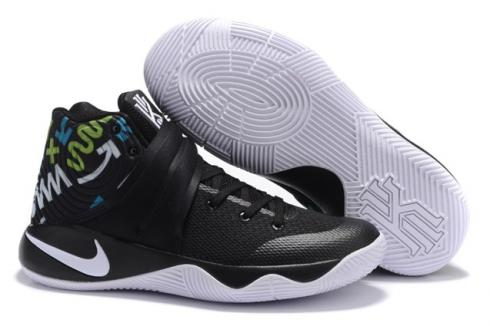 timeless design d396d d6b07 Prev Nike Kyrie 2 II Effect EP Ivring Black White Blue Green Men Basketball  Shoes 819583 450