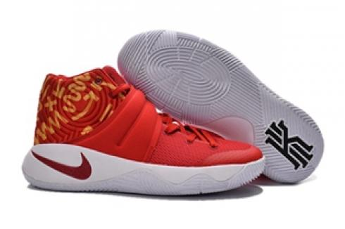 innovative design 70a4f e3253 Prev Nike Kyrie II 2 Pure Red Yellow White Men Shoes Basketball Sneakers  819583