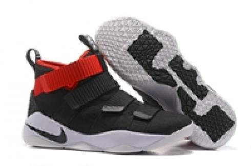 1f02a8f977c Prev Nike Zoom LeBron Soldier XI 11 Men Basketball Shoes Black White Red  New 897645