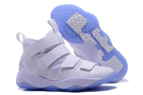 brand new 7873a ce98d Nike Zoom LeBron Soldier XI 11 Men Basketball Shoes Black Sky Blue ...
