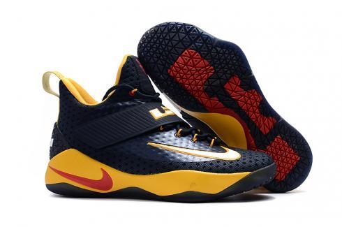 8da2c9fcaa6 Nike Zoom Lebron Soldier 11 XI deep blue yellow Men Basketball Shoes -  Febbuy